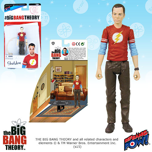 Big Bang Theory Sheldon Flash 3 3/4-Inch Figure
